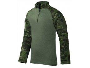 Bojové triko UBACS TRU-SPEC TRU  1/4 -ZIP Combat Shirt - MultiCam® Tropic