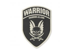 Gumová Velcro nášivka WARRIOR ASSAULT SYSTEMS Rubber Logo Shield Black