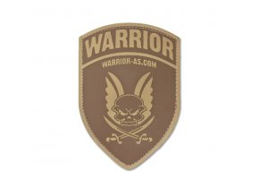 Gumová Velcro nášivka WARRIOR ASSAULT SYSTEMS Rubber Logo Shield Dark Earth