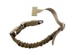 Jednobodový MOLLE popruh na zbraň WARRIOR ASSAULT SYSTEMS Quick Release Sling H & K Hook - Coyote Tan