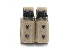 Sumka na dva granáty nebo dýmovnice Warrior Assault Systems Double 40mm Grenade - Coyote Tan