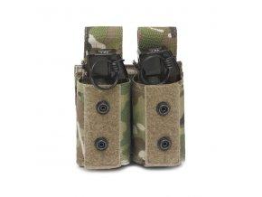 Sumka na dva granáty nebo dýmovnice Warrior Assault Systems Double 40mm Grenade - MultiCam