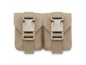 Sumka na dva granáty Warrior Assault Systems Double Frag Grenade Pouch Gen 2 - Coyote Tan