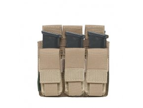 Sumka na zásobníky Warrior Assault Systems Direct Action Triple DA 9mm Pistol Pouch - Coyote Tan