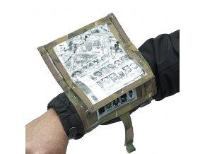Mapové pouzdro na předloktí WARRIOR ASSAULT SYSTEMS Tactical Wrist Case - MultiCam
