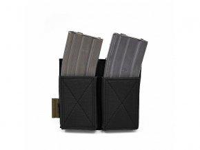 Otevřená sumka na zásobníky WARRIOR ASSAULT SYSTEMS Double Elastic Mag Pouch - Black