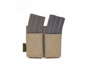 Otevřená sumka na zásobníky WARRIOR ASSAULT SYSTEMS Double Elastic Mag Pouch - Coyote Tan