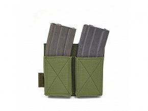 Otevřená sumka na zásobníky WARRIOR ASSAULT SYSTEMS Double Elastic Mag Pouch - Olive Drab