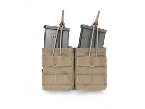 Otevřená sumka na dva zásobníky Warrior Assault Systems Double MOLLE Open G36 - Coyote Tan