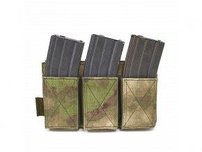 Otevřená sumka na zásobníky WARRIOR ASSAULT SYSTEMS Triple Elastic Mag Pouch - A-TACS FG