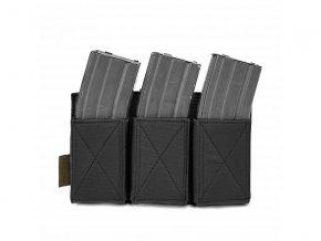 Otevřená sumka na zásobníky WARRIOR ASSAULT SYSTEMS Triple Elastic Mag Pouch - Black