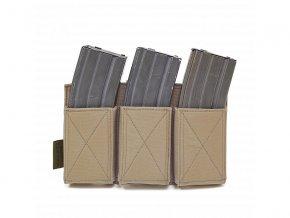 Otevřená sumka na zásobníky WARRIOR ASSAULT SYSTEMS Triple Elastic Mag Pouch - Coyote Tan
