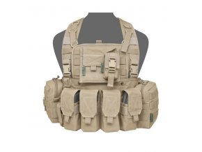 Hrudní nosič WARRIOR ASSAULT SYSTEMS 901 Elite Ops M4 Bravo Chest Rig  - Coyote Tan