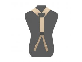 Tracky WARRIOR ASSAULT SYSTEMS Elite Ops Slimline Harness - Coyote Tan