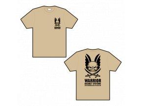 Triko WARRIOR ASSAULT SYSTEMS T-shirt - Tan