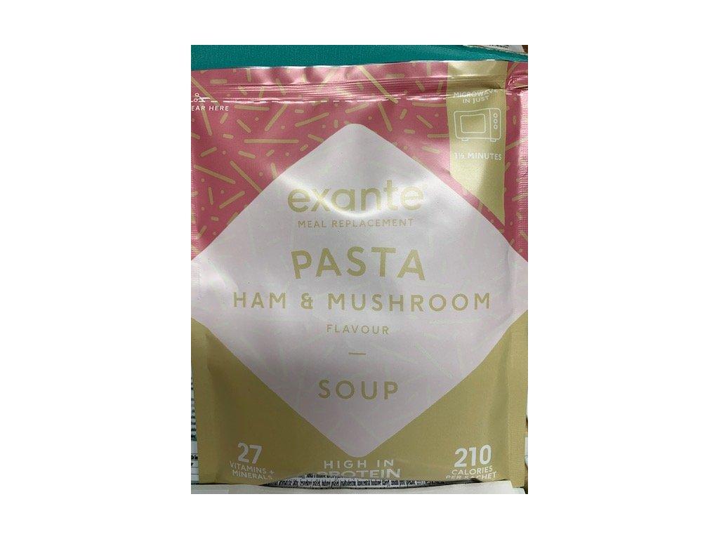 polévka se šunkou a houbami
