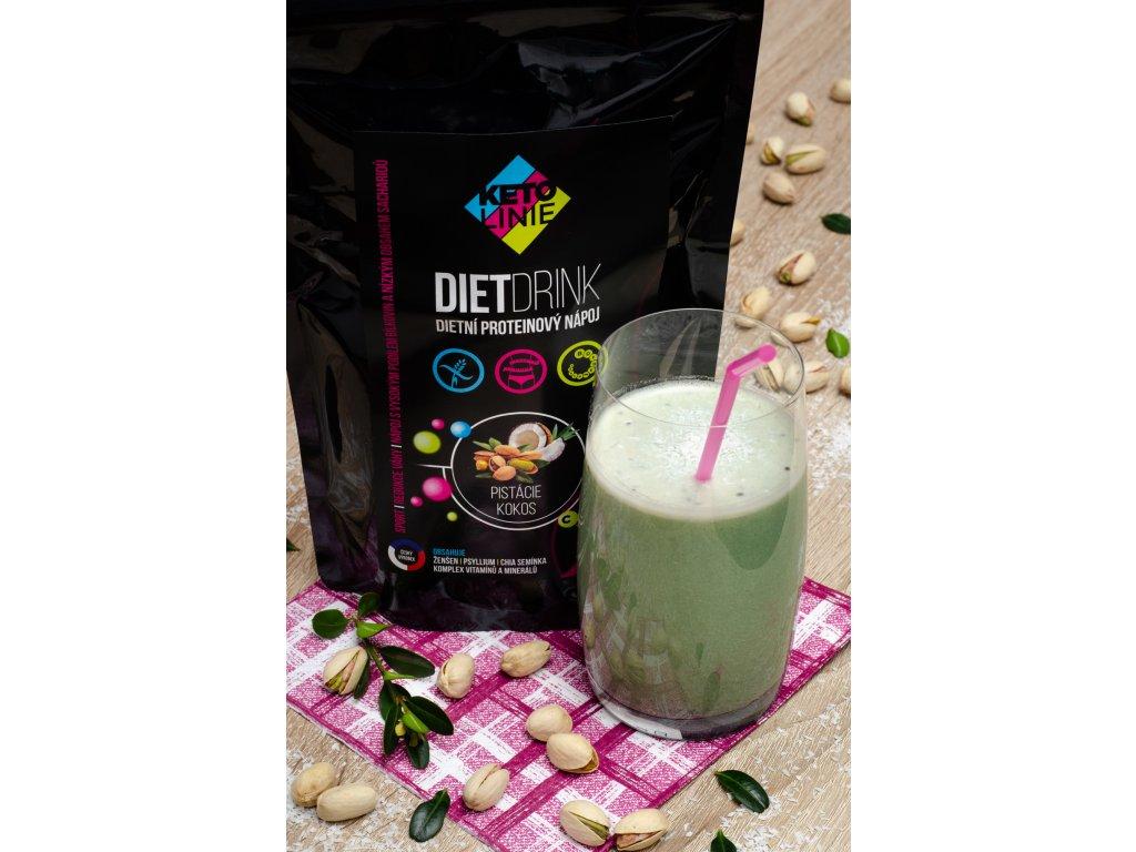 155 proteinovy napoj pistacie kokos 360 g 12 porci