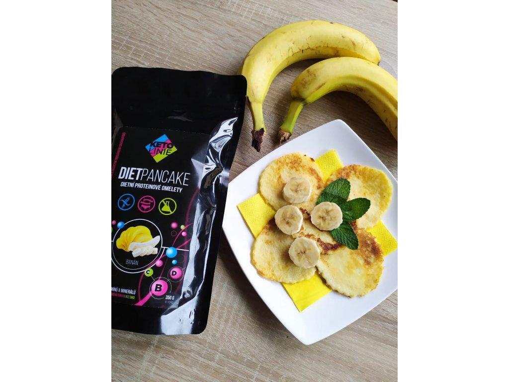 palačinky s banánovou příchutí / 10 porcí