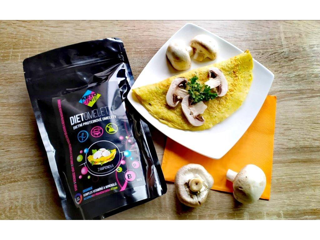 proteinová omeleta se žampionovou příchutí ( 350 g / 10 porcí )