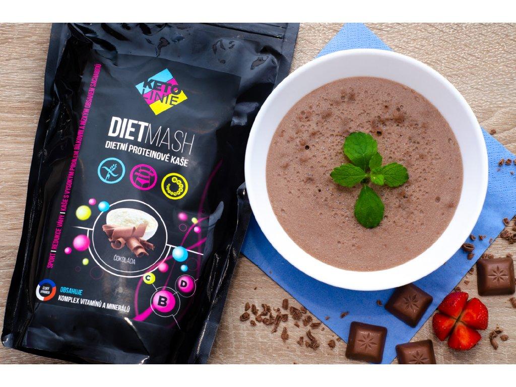 65 proteinova kase s prichuti cokolady 12 porci