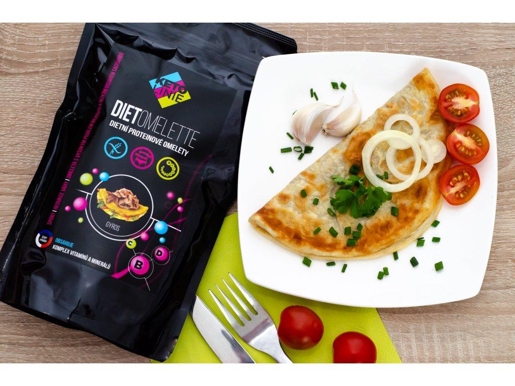 89 proteinova omeleta s prichuti gyros 12 porci