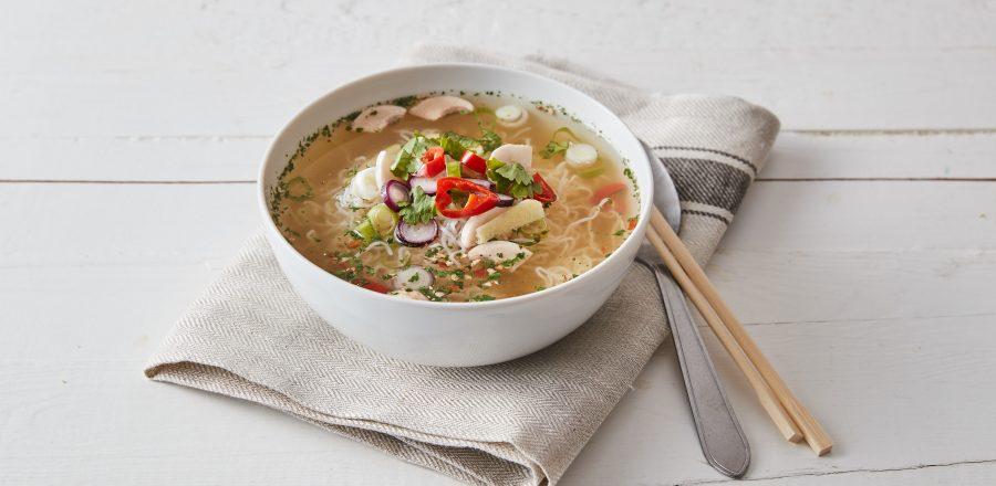 Asijská polévka se zázvorem a koriandrem
