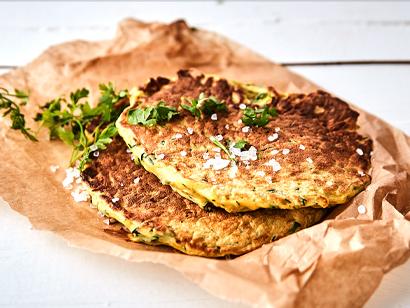 keto cuketové placky z KetoMix omelety