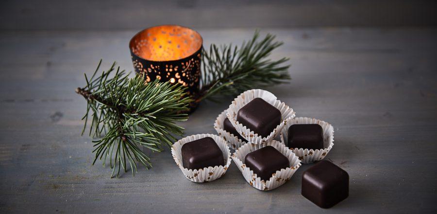 Čokoládové bonbóny s oříšky