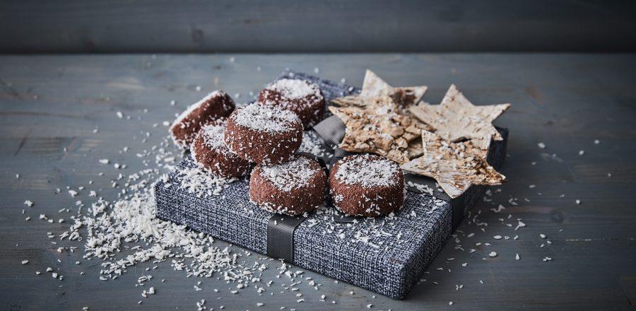 Sněhové placičky s čokoládou
