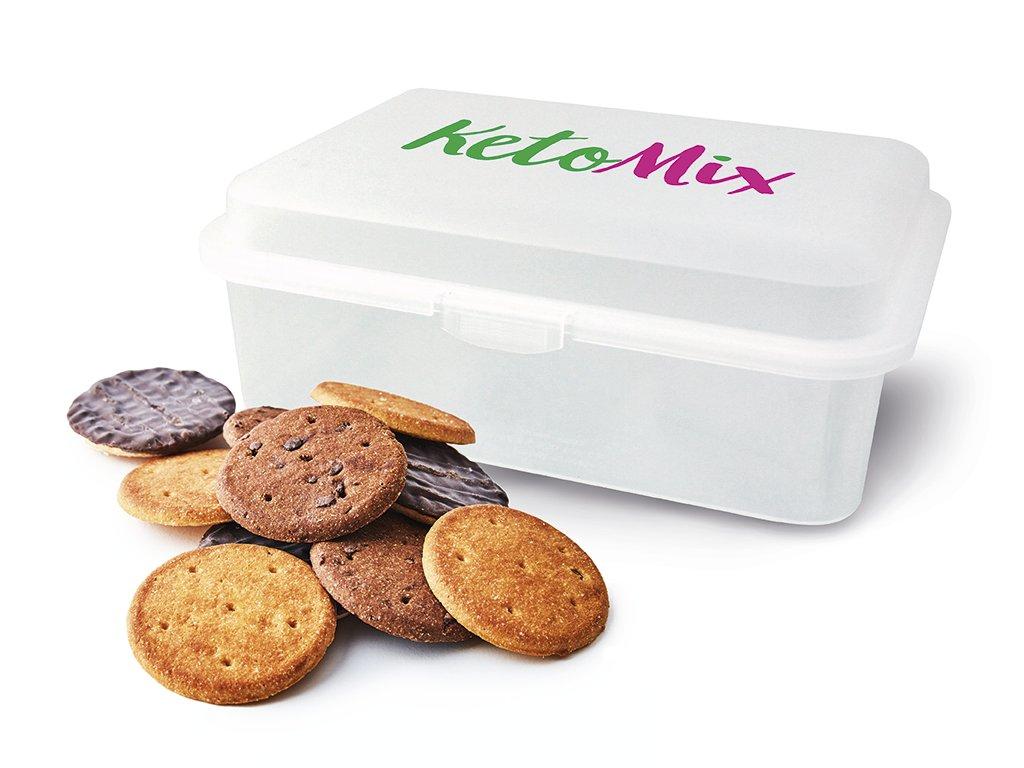 Proteinové sušenky + plastová krabička ZDARMA