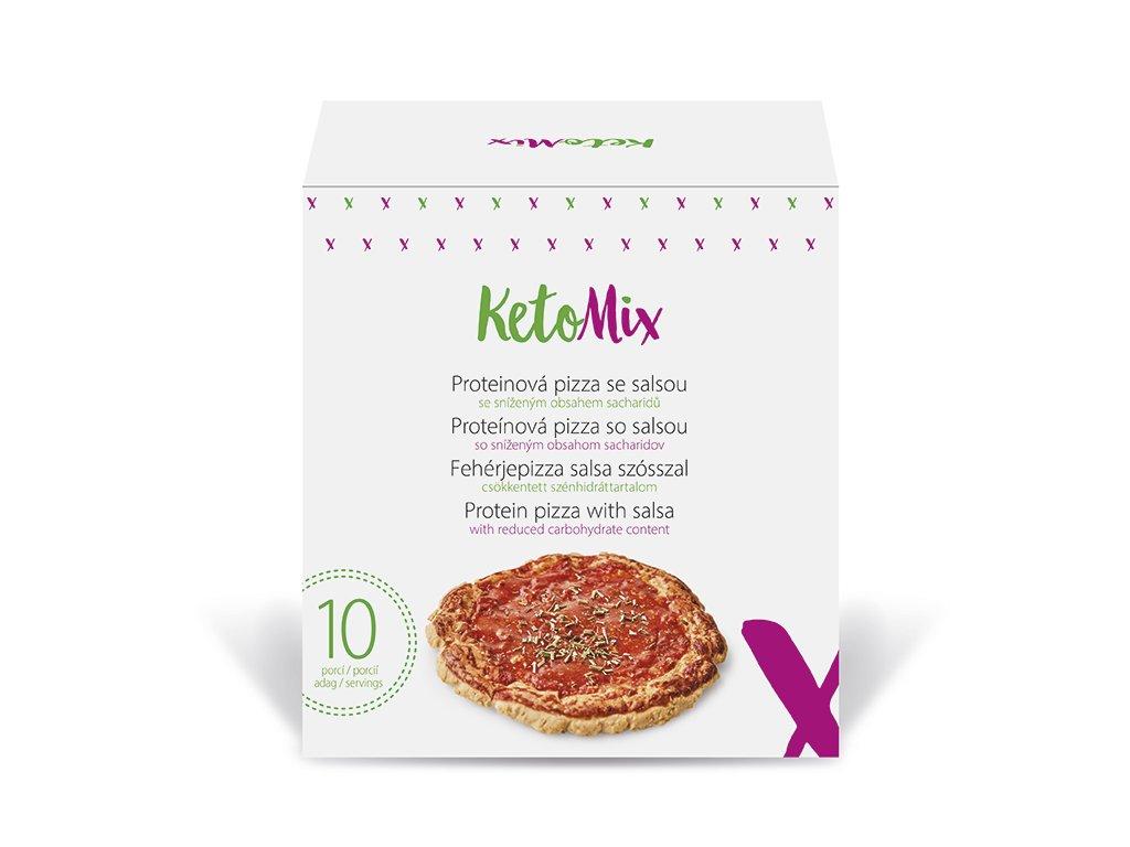Proteinová pizza se salsou (10 porcí)