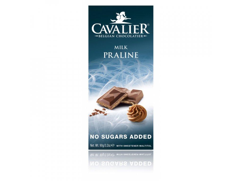 Čokoláda MILK HAZELNUTS (slazená maltitolem)