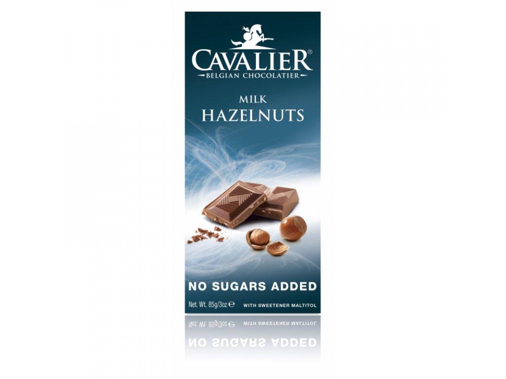 cavalier milk hazelnuts maltitol 85g