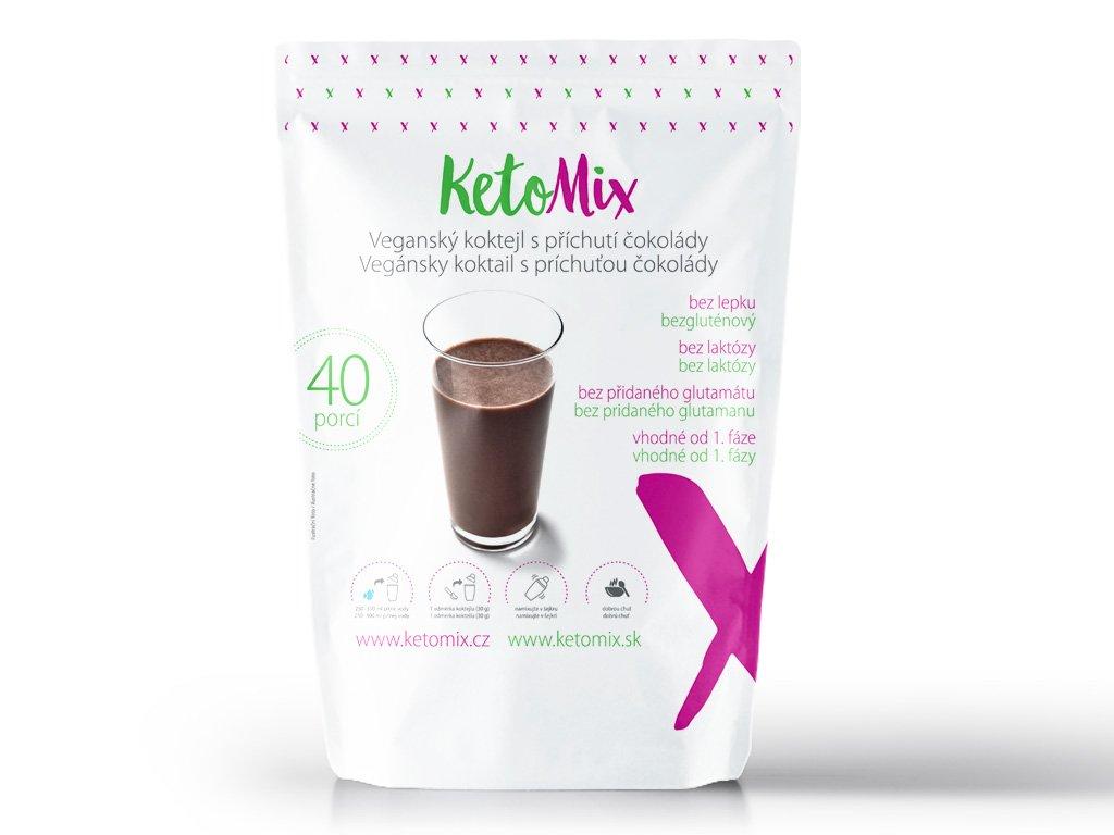 Proteinový bezlaktózový (veganský) koktejl s příchutí čokolády