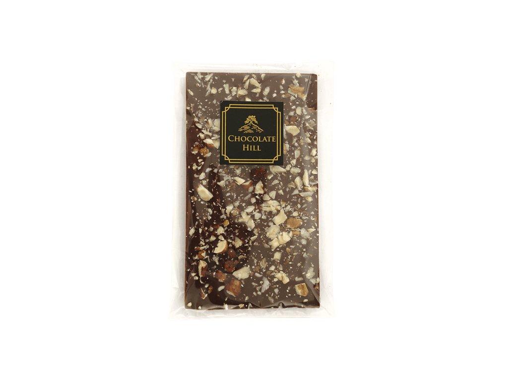 low carb cokolada s vlasskymi a liskovymi orechy