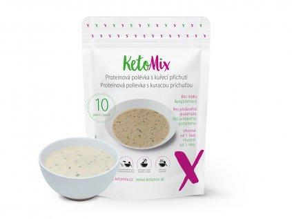 Proteinová polévka s kuřecí příchutí (10 porcí)