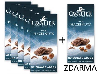 Čokoláda MILK HAZELNUTS slazená malitolem