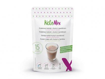 Proteinový koktejl s Acetyl-L-karnitinem s příchutí vanilka-jahoda (15 porcí)