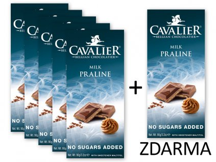 Čokoláda MILK PRALINE 5+1 ZDARMA