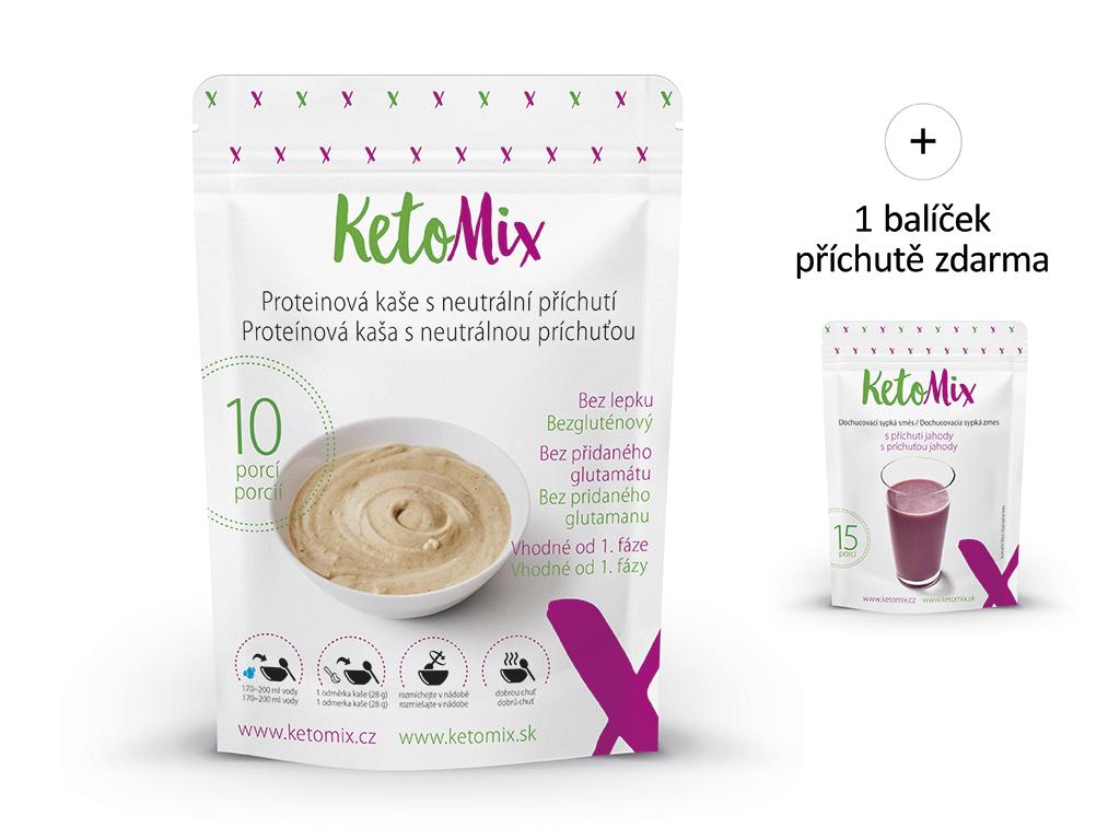 KetoMix Proteinová kaše 280 g (10 porcí) – s neutrální příchutí Příchuť: čokoláda