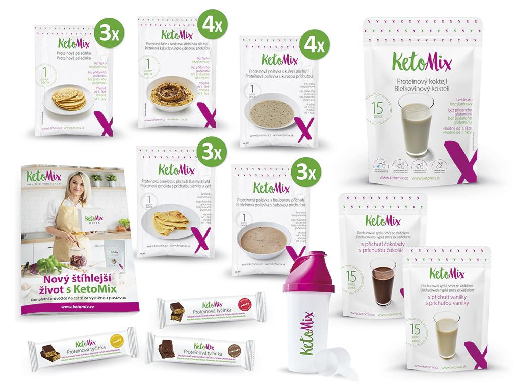 KetoMix Ochutnávkový týdenní balíček (35 porcí) 2000g