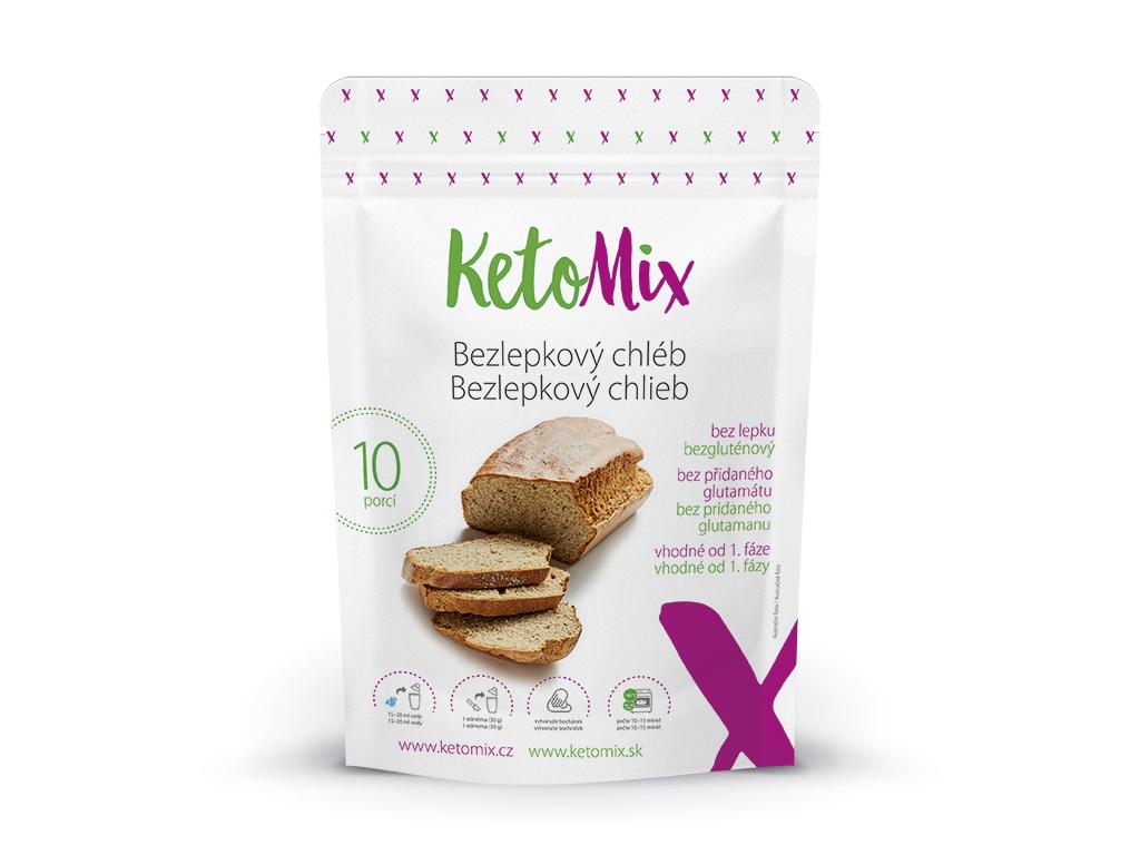 KetoMix Proteinový Bezlepkový chléb 300 g (10 porcí)
