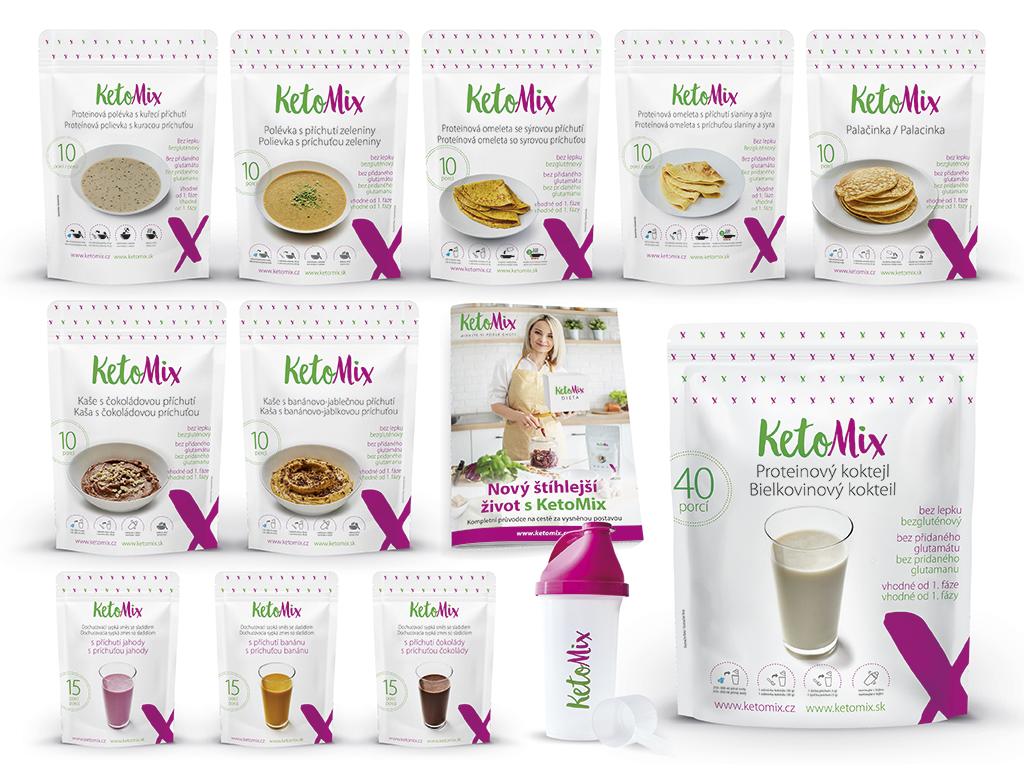 KetoMix Ketonová dieta na 3 týdny (110 porcí) 3840g