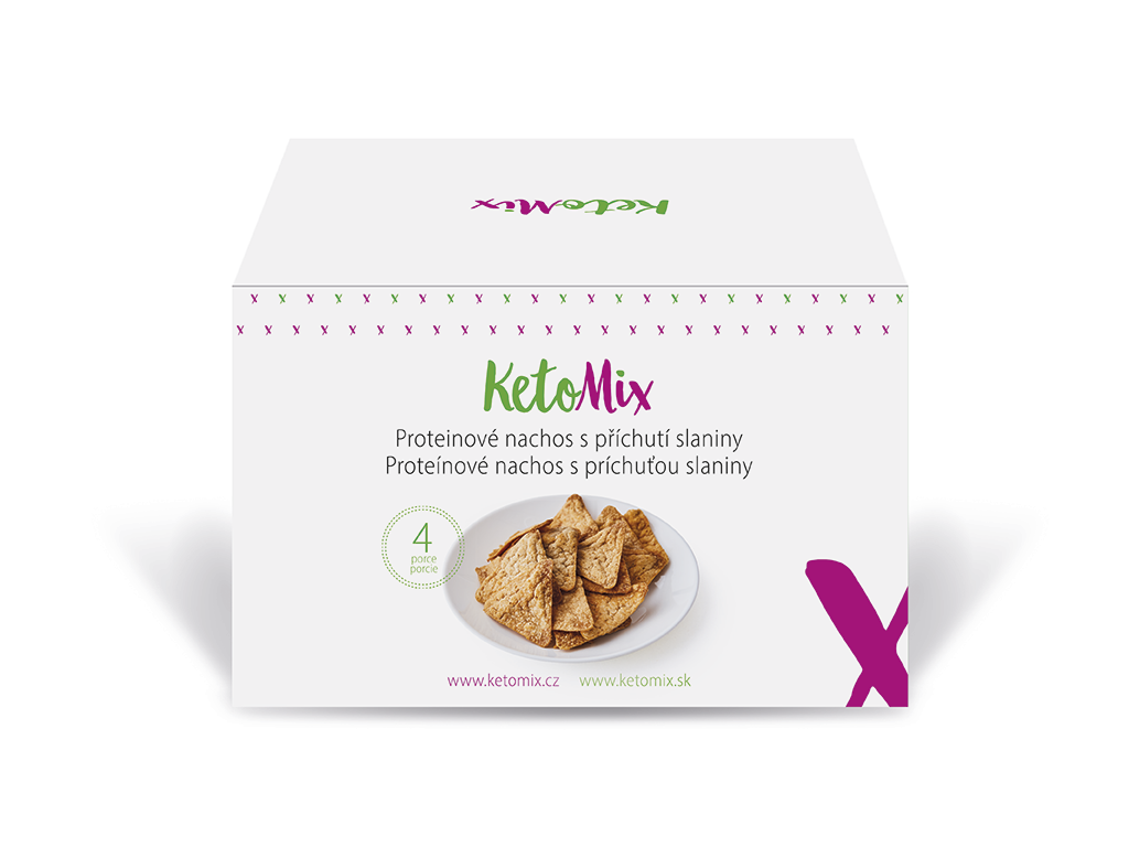 KetoMix Proteinové nachos - slanina (4 porce) 120 g
