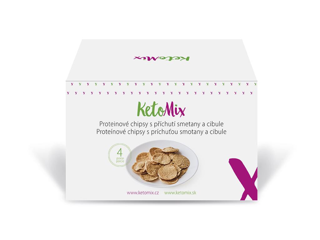 KetoMix Proteinové chipsy s příchutí cibulky (4 porce) 120 g