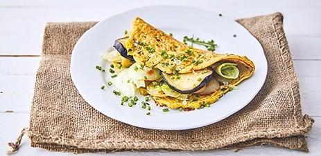 Protein omlett pirított zöldséggel