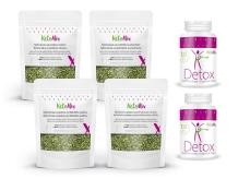 Egyhavi, fogyást elősegítő, gyógynövényes kezelés és 2 db KetoMix Detox