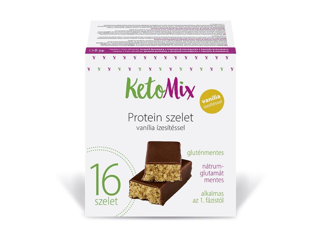 Vanília ízű protein szeletek
