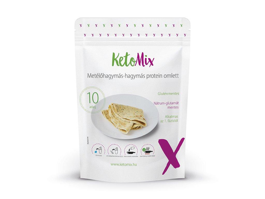 Metélőhagymás-hagymás protein omlett