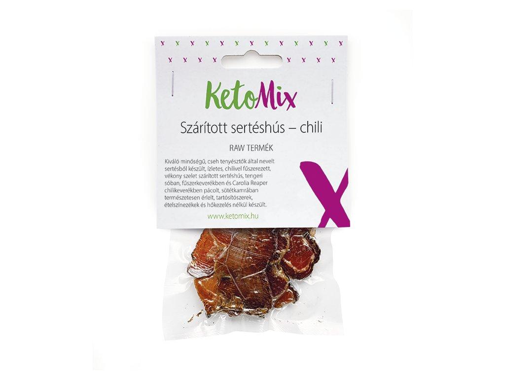 Szárított sertéshús – chili (1 adag)